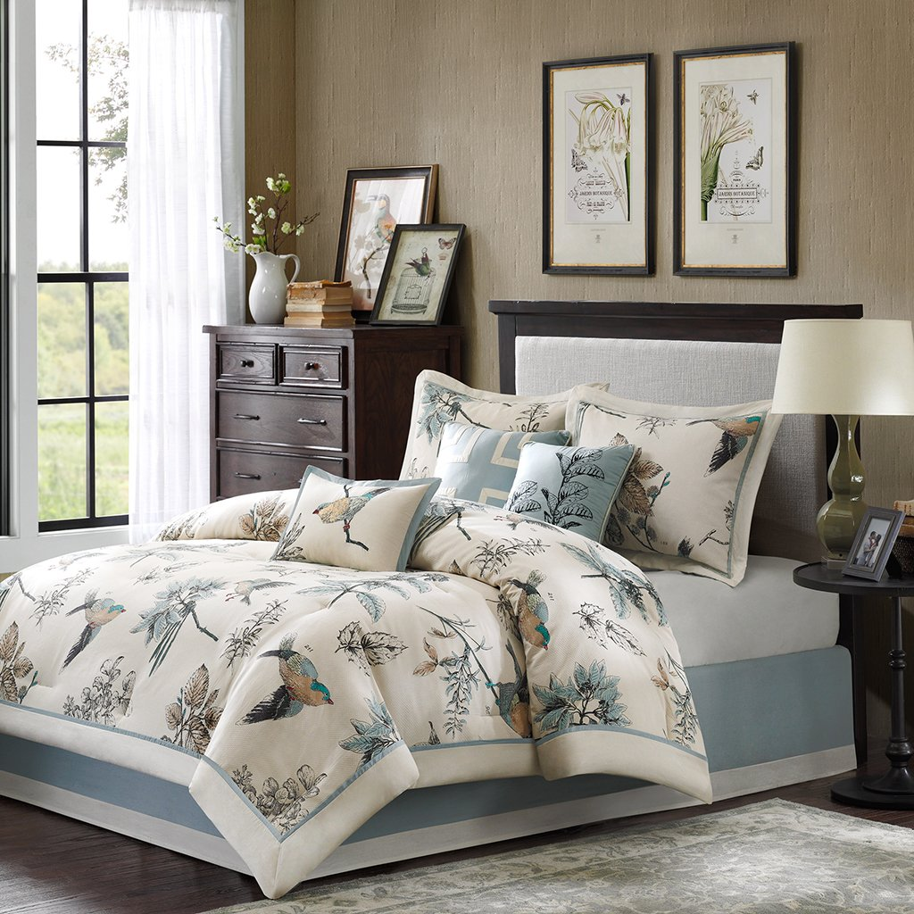 Madison Park Textiles Quincy 7 Piece Comforter Set Queen