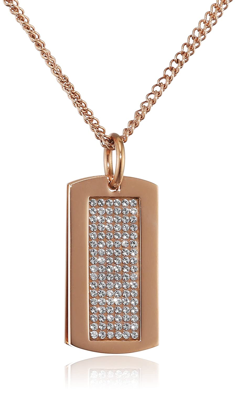 Dyrberg/Kern Damen-Kette mit Anhänger 15/02 Halle Rg Crystal teilvergoldet 80 cm - 338103