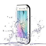 Galaxy S6 Edge Case, HM-ANT Heave Duty Love MEI Aluminum + Silicone Impact Protection Waterproof Case Shockproof Rugged Edge Waist Metal Aluminum Case Cover for Samsung Galaxy S6 Edge (Silver) (Color: Silver)