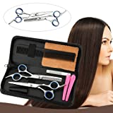 Hair Cutting Shears, Professional Haircutting Scissors, Barber/Salon/Home Thinning Shears Kit with a Black Case, Razor Sharp Stainless Steel & Fine Adjustment Tension Screw, Size 6.0