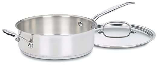 Cuisinart 733-24H Chef's Classic Stainless 3-1/2-Quart Saute Pan with Helper Handle & Cover at amazon