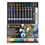 Chameleon Art Products, Chameleon 22-Pen Deluxe Set (Color: Multicolor, Tamaño: 22-Pen Deluxe Set)