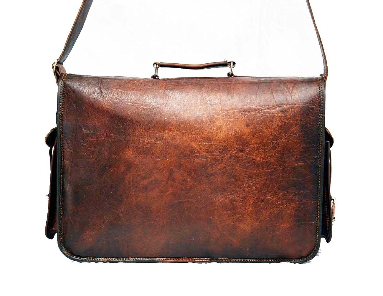 HIDE 1858 TM Genuine Leather Camera Office Satchel Bag 15