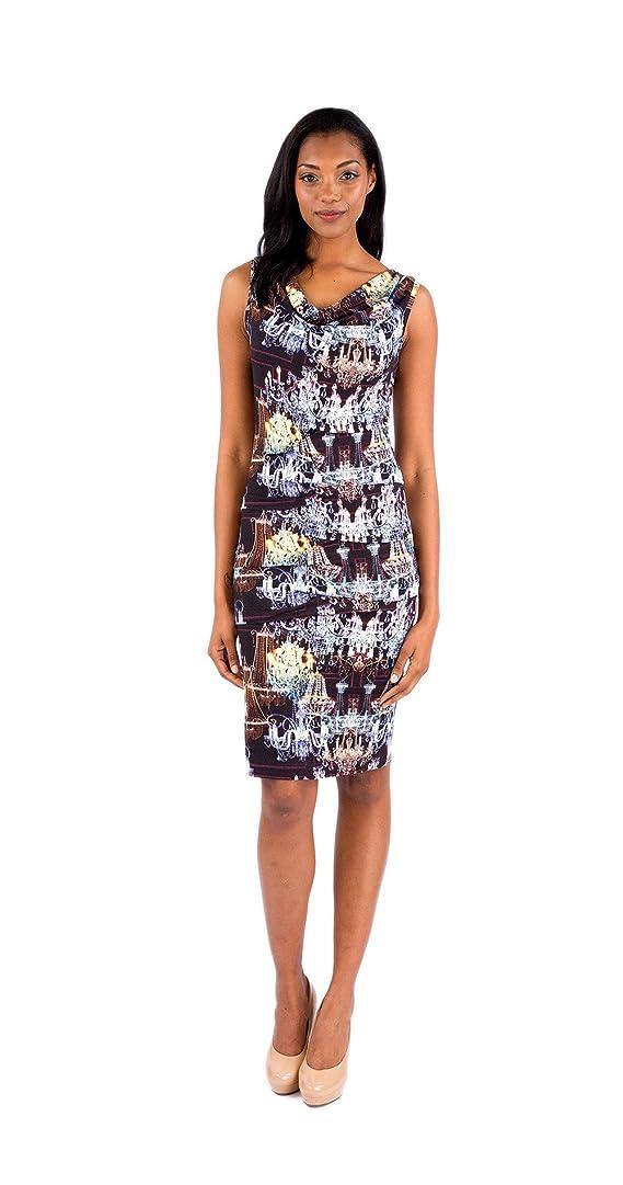 Nicole Miller Decadence Print Jersey Midi Dress