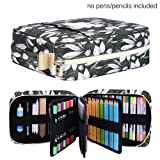 Pencil Case Holder Slot -Holds 202 Colored Pencils or 136 Gel Pens with Zipper Closure - Large Capacity Polyester Pen Organizer for Watercolor Pens or Markers - Perfect Gift for Artist Orchid (Color: Orchid 202)