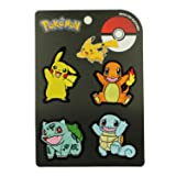 Set of 4 Pokémon Patches Starter Original First Generation Embroidered Iron On Applique