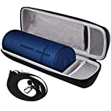 Speaker Case Compatible with Ultimate Ears MEGABOOM 3 Portable Waterproof Bluetooth Speakers.Storage Holder Fits for USB Cable and Charger.(Box Only)