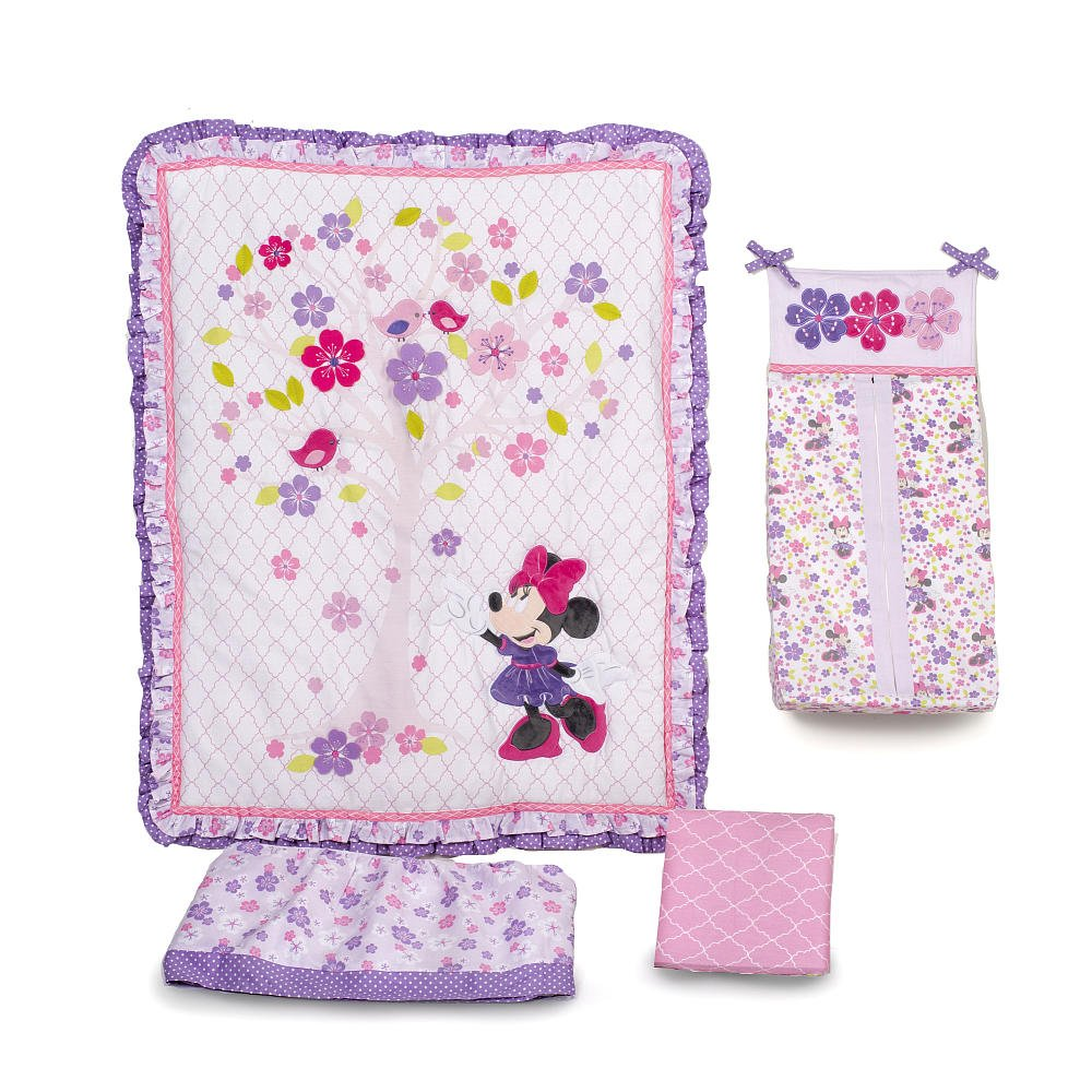 Disney Baby Minnie Mouse Love Blossoms Premier Baby Bedding