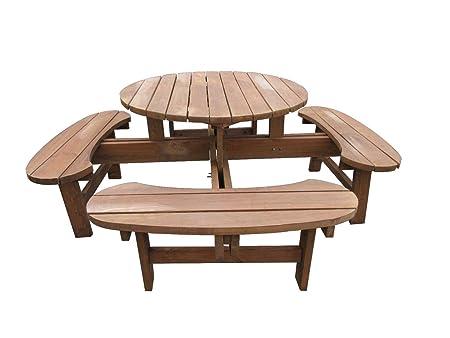 Mobiliario de jardín de muebles para jardín grupo de asiento de madera de gran calidad y estable