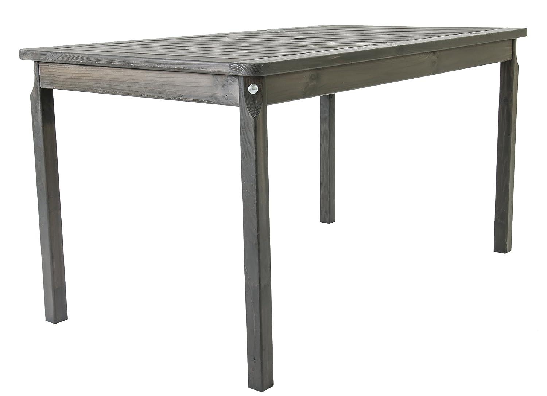 GARDENho.me Nordische Gartenmöbel Massivholz Tisch EVJE 5 Farbvarianten Gartentisch Esstisch Taupegrau günstig