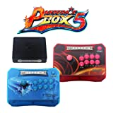 Wisamic Pandora's Box 5 Wireless Arcade Sticks Controller 960 in 1 Game Console with Customized Buttons, 1280x720 Full HD, Upgraded CPU, Support XBOX360 PS3 PC TV 2 Players