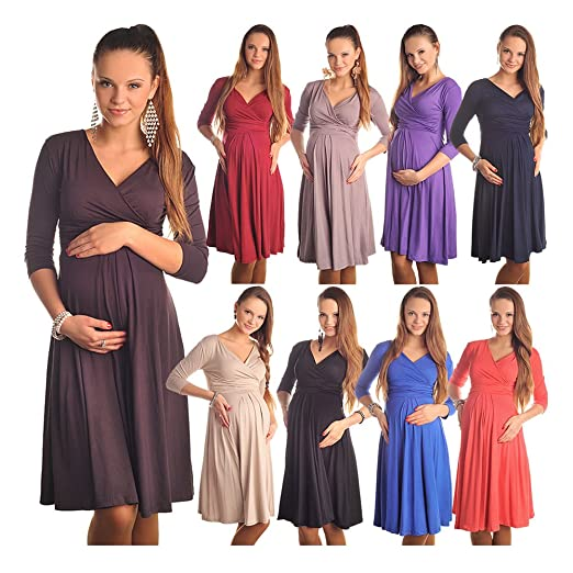 Gorgeous Maternity And Pregnancy Dress Vneck