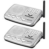 Wireless Intercom System Hosmart 1/2 Mile LONG RANGE 7-Channel Security Wireless Intercom System for Home or Office (2017 New vesion) [2 stations Silver]