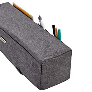 NICOGENA Dust Cover for Cricut Explore Air 2, Cricut Maker, 3 Pockets for Cricut Tools Accessories, Scratch-Resistant, Water-Resistance, Grey (Color: Grey)