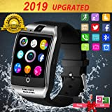 Smart Watch,Smart Watches,Smartwatch for Android Phones, Waterproof Smart wrist Watch Touchscreen with Camera Bluetooth Watch Cell Phone Compatible Android Samsung iOS XS XR X 8 7 6 Men Women Youth (Color: Silver)