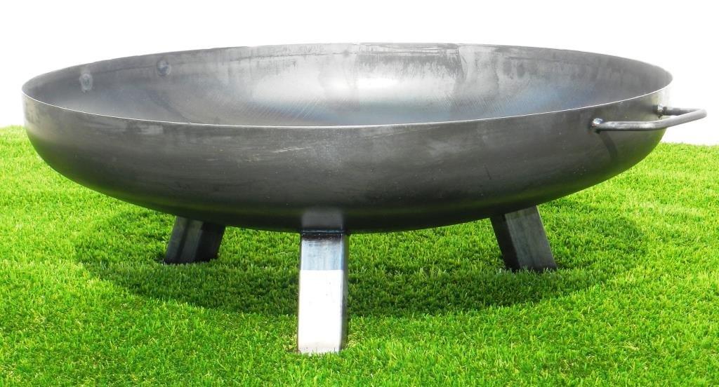 Feuerschale aus Stahl 790 mm / mit 3 Beinen und 2 Griffen + gratis Kaminholz jetzt bestellen