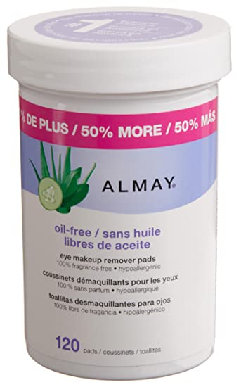 Almay Oil-free Eye Makeup Remover Pads, 120-Count (Pack