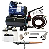 Paasche Airbrush TS-300R Double Action Siphon Feed Airbrush Set and Compressor with Tank