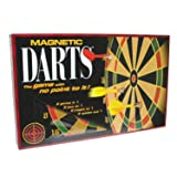 Family Games Portable Magnetic Dart Game (Color: Black)