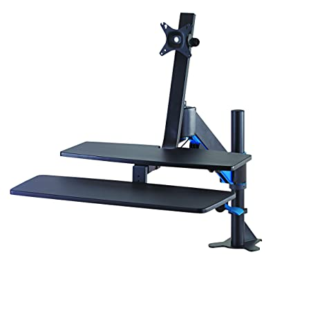 Kensington SmartFit® Sit/Stand Workstation - flat panel desk mounts (Clamp/Bolt-through, 10 kg, Height adjustment, Black)