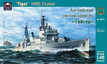 "Maquette HMS cruiser ""Tiger"" Russian Navy Battleship"