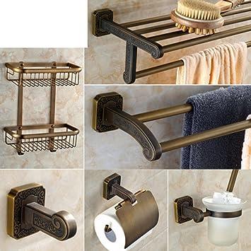 Bagno accessori hardware/Carving style Towel rack/ porta asciugamani in ottone vintage/ barra di tovagliolo antico-B