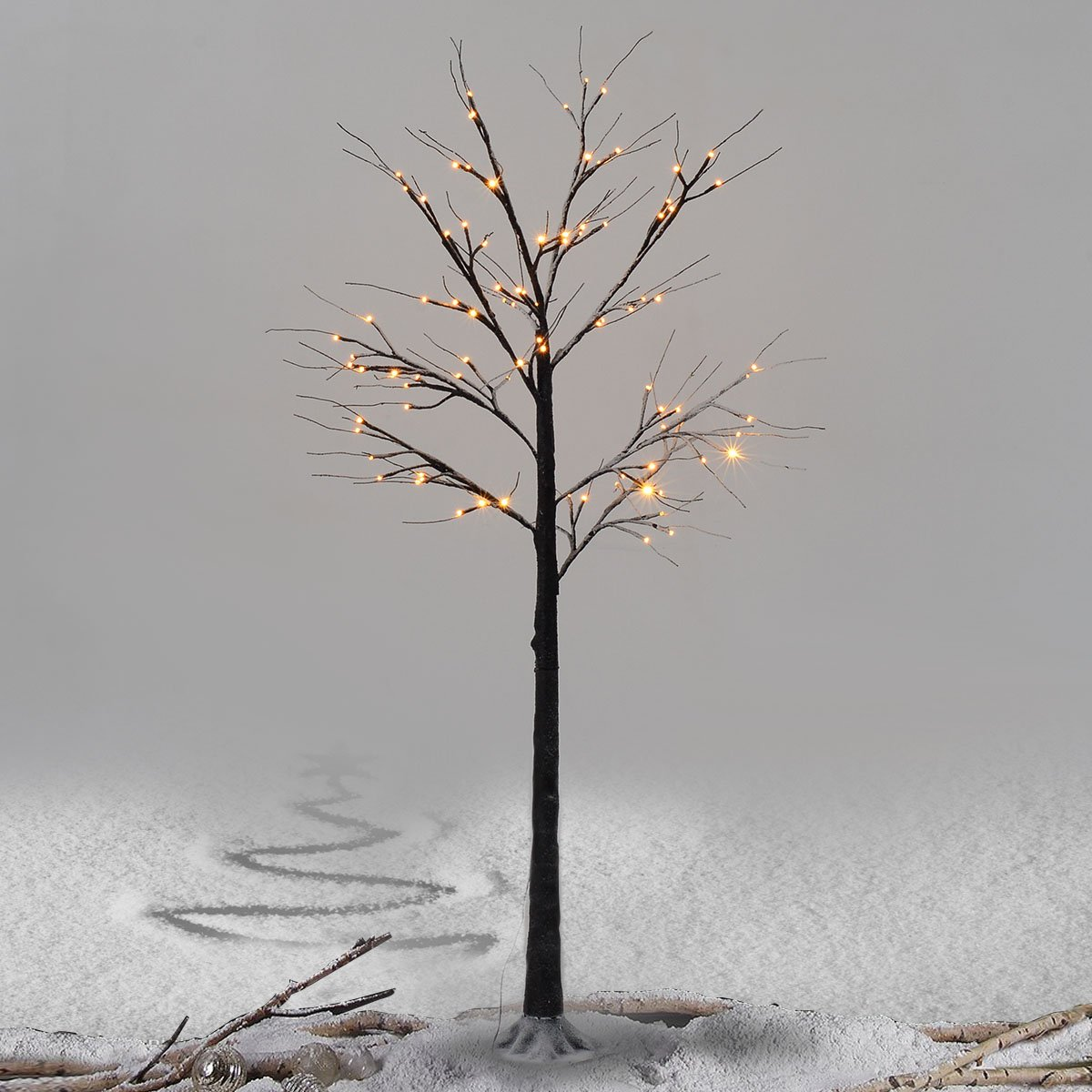 Tree Lights Brown LED Warm White Decoration