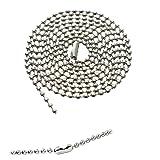 b99c083bd9d Bulk 100 Pack - Anti Corrosion NICKEL PLATED Beaded Neck Chain ID Badge  Holders - 36