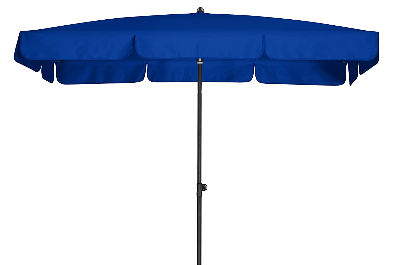 Absolut wasserdichter Gartenschirm Waterproof 260x150 von Doppler mit UV-Schutz 80, Farbe dunkelblau