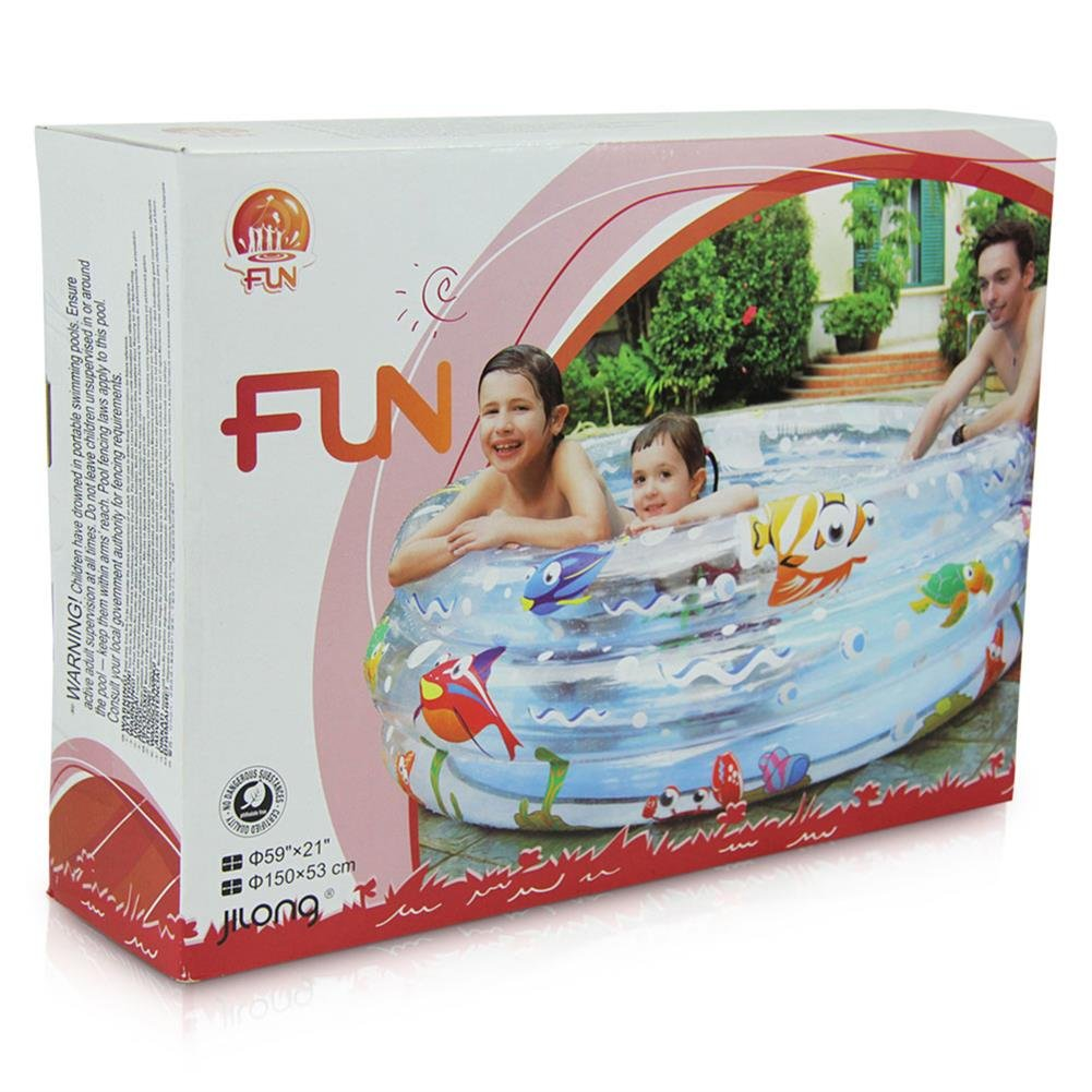 4 x Planschbecken Kinderplanschbecken Ocean Kinderpool Kinder Pool aufblasbar 150 cm