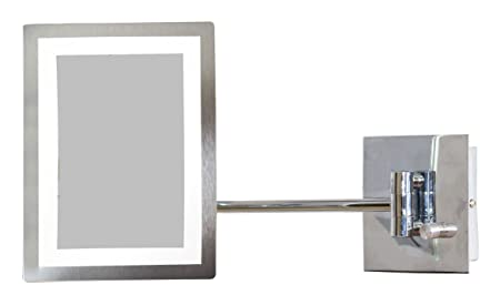 American Imaginations AI-10-558 Rectangle LED Mirror with Light Dimmer and 3x Zoom, 6.25-Inch x 8.5-Inch