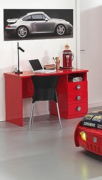 Vipack SC865BUR Monza Bureau MDF Rouge 219 x 95 x 60 cm