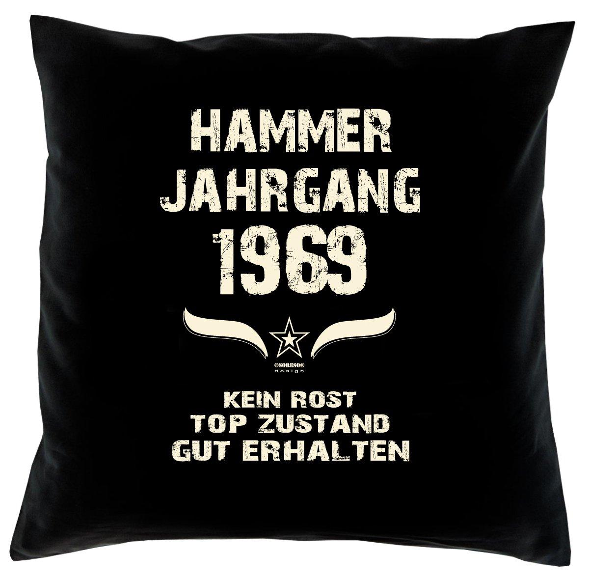 Cooles – Fun – Kissen – Sitzkissen – Zum 47. Geburtstag – Hammer Jahrgang 1969 Farbe: Schwarz – Größe: 40 x 40 cm online bestellen
