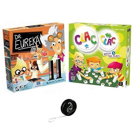 Lot de 2 jeux: Dr Eureka + Clac Clac + 1 Yoyo Blumie