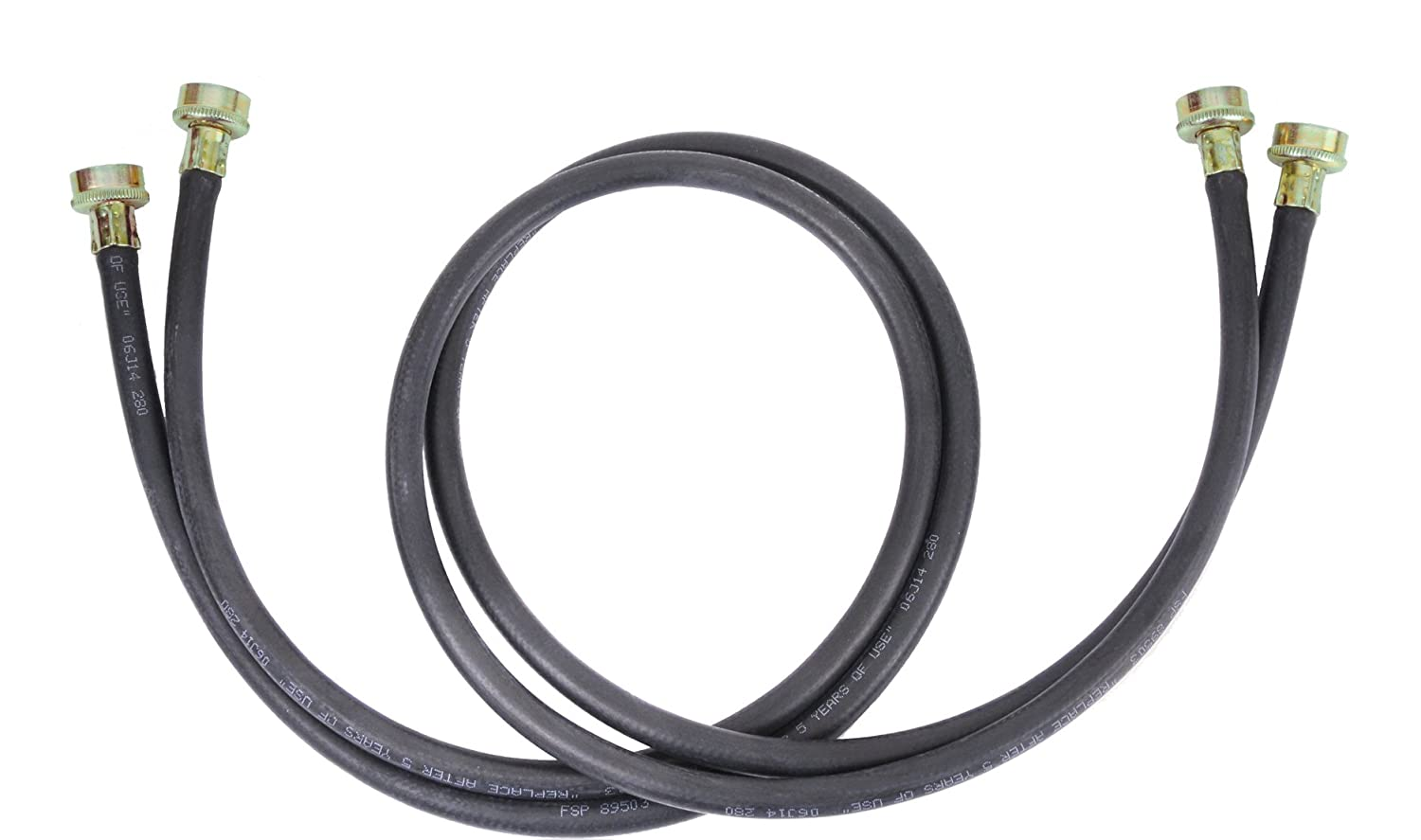 whirlpool 8212656rp 10 feet black rubber washer inlet hose 2 pack new fre. Black Bedroom Furniture Sets. Home Design Ideas