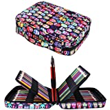 220 Colored Pencil Case Multi Pencil Holder Large Capacity Pen Organizer Bag for Watercolor Pencils, Markers,Gel Pens, Highlighters, Brushes, Great Gift for Students Painter Writers (Beijing Opera) (Color: Beijing Opera)
