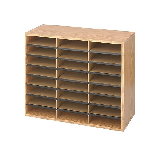Safco - Libreria/Casellario in legno con 24 scomparti - Quercia chiaro