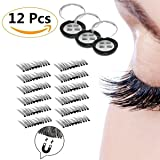 [Upgraded] RB Beauty False Magnetic Eyelashes 3D Reusable Fake Eyelashes , 6 Pairs 12 Pieces, Ultra Thin, Natural Look