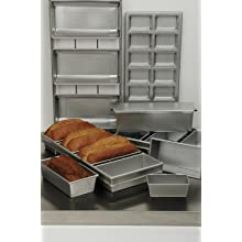 Focus Foodservice Commercial Bakeware 4 Strap 9 by 4--1/2-Inch Bread Pan Set
