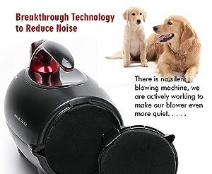 shernbao High Velocity Professional Dog/Pet Grooming Force Hair Dryer/Blower (Color: Black, Tamaño: 5.0HP)