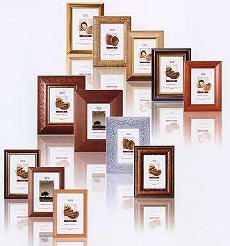 geschenkbox set 10 stk bilderrahmen holzrahmen 13x18 cm verschiedene farben und stile. Black Bedroom Furniture Sets. Home Design Ideas