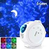 Jomst Star Projector,3 in 1 LED Moon and Star Lights,with Voice Control, 6 Lighting Effects,360-Degree Rotating Sky Laser Projector, Best for Children and Adults Bedroom and Party Decorations (White) (Color: White)