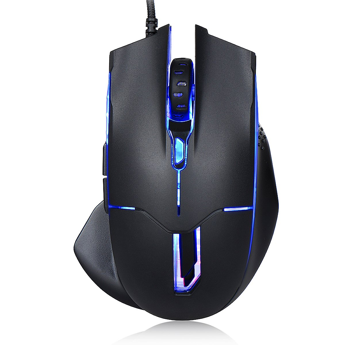 Xcords (TM) ZM700-2500DPI Optical Programmable Wired Gaming Mouse for PC/Laptop/Desktop, 7 Soothing LED Colors, 6 Buttons