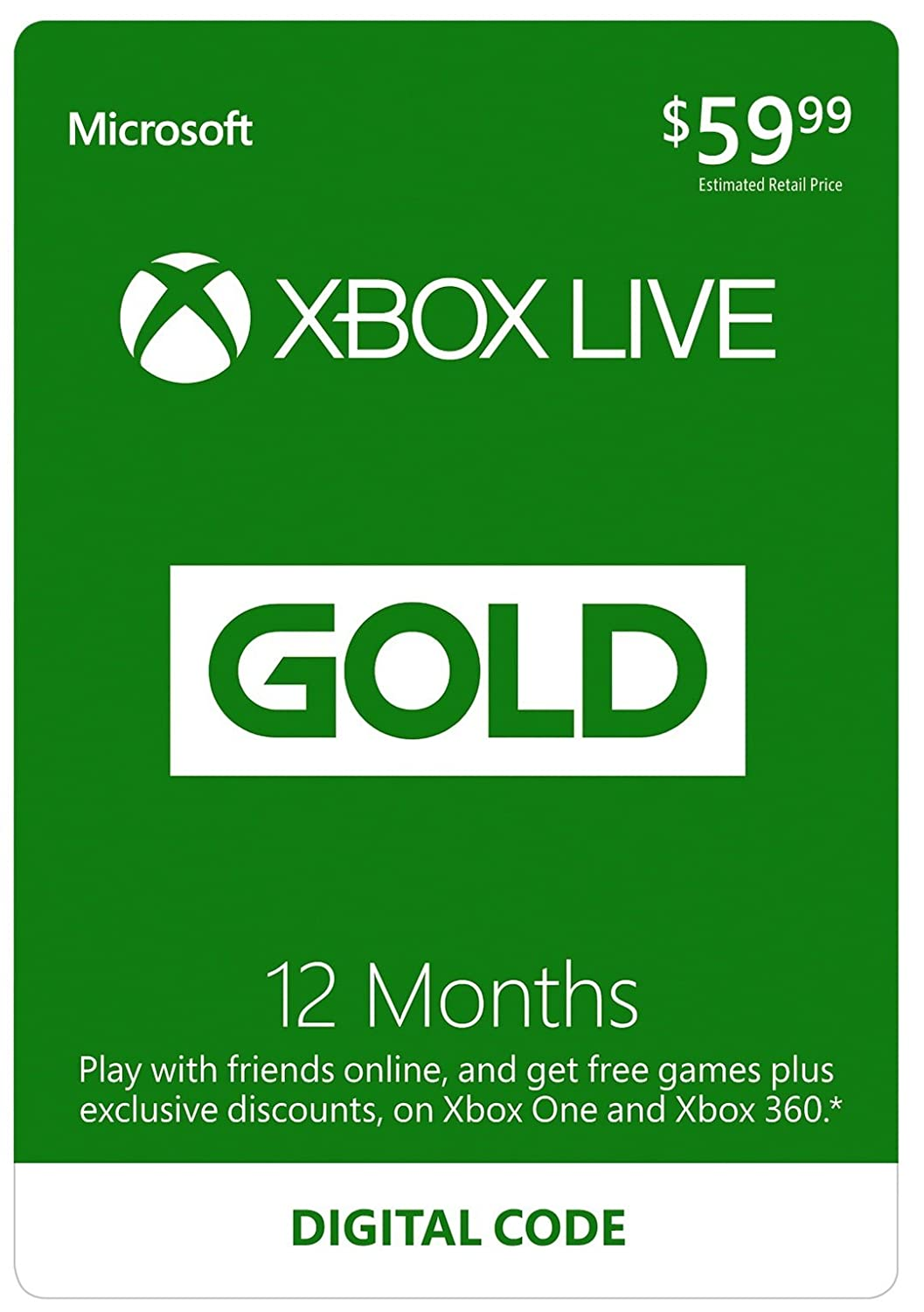 Free Shipping Amazon Code - Xbox live 12 month gold membership digital code 39 99 with free prime shipping