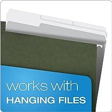 Pendaflex Two-Tone Color File Folders, Letter Size, 1/3 Cut, Gray, 100 per Box (152 1/3 GRA)