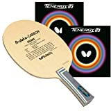 Butterfly Viscaria Pro-Line Table Tennis Racket Viscaria FL Blade Assembled Tenergy 05 2.1mm Red and Black Side Tape (Color: Red/Black)
