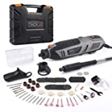 TACKLIFE Rotary Tool 1.8 Amp Power with 4 Attachments Including Flex Shaft, Shield, Grip and Cutting Guide, 61 Accessories Perfect for Sanding, Grinding, Cutting and Engraving-RTD36AC (Color: Black & Gray)