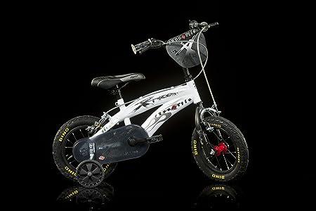 Velò Enfant Dino Bikes Extreme 12 Pouces avec Stabilisateurs Blanc