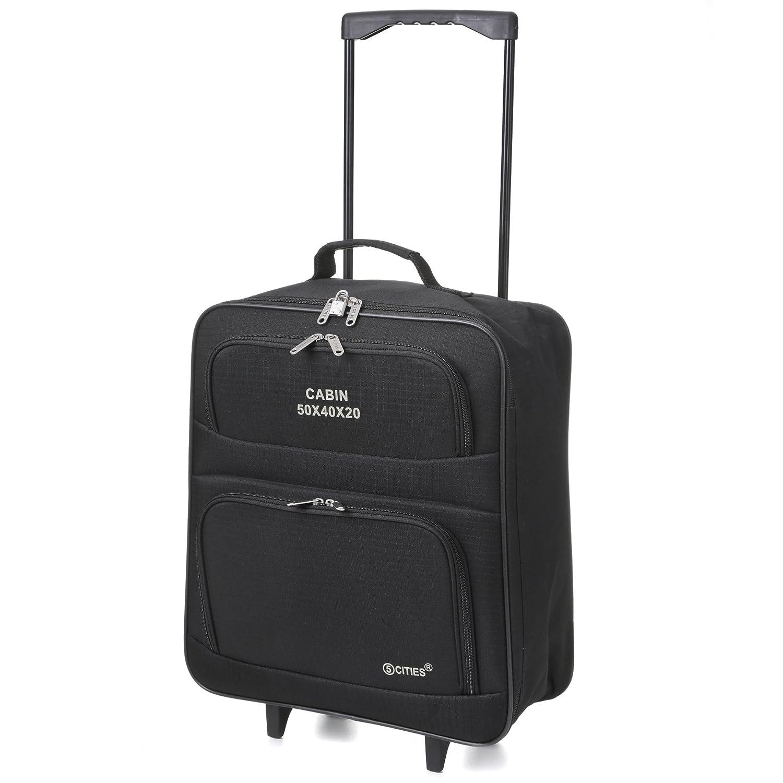 EasyJet RyanAir 50 x 40 x20 Foldable Hand Luggage Wheeled ...