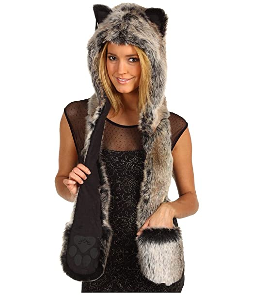 Authentic Grey Wolf Full Hood By Spirithoods